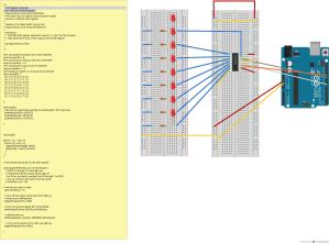 multiplexing-shiftregister_Steckplatine